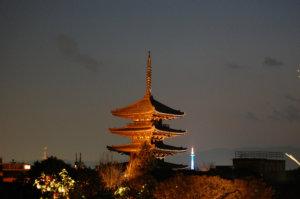 五重塔 夜景